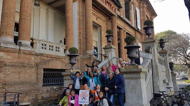 Associados se divertem em passeio na Pinacoteca