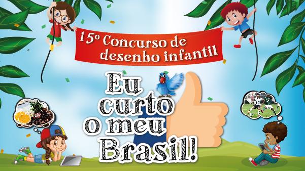 """""""Eu curto o meu Brasil"""" é tema do Concurso de Desenho"""