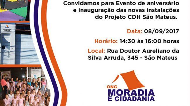 Moradia e Cidadania inaugura novas instalações em São Mateus