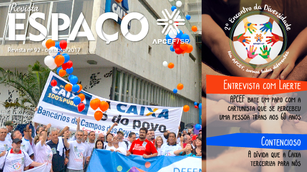 Confira a nova edição da revista Espaço, entrevista exclusiva com a Laerte