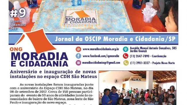 Confira a nova edição edição do jornal da ONG Moradia e Cidadania