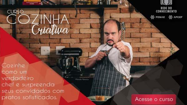 Cozinha Criativa: novo curso na Rede do Conhecimento