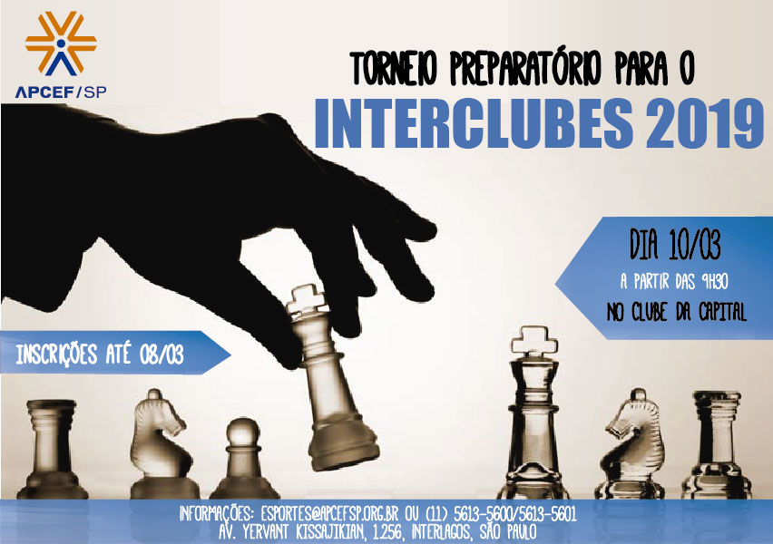 Torneio Preparatório de Xadrez tem inscrições abertas