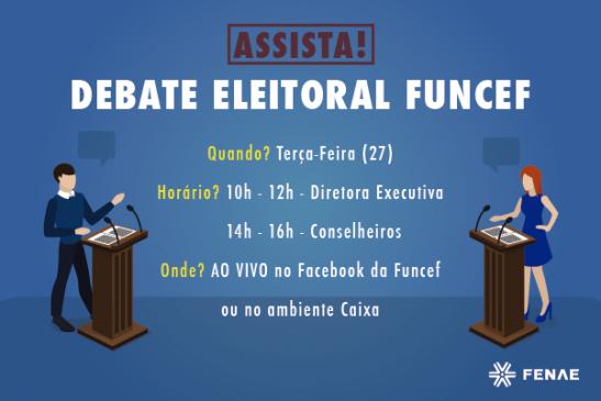 Eleições Funcef: debate entre as chapas acontece nesta terça-feira. Assista