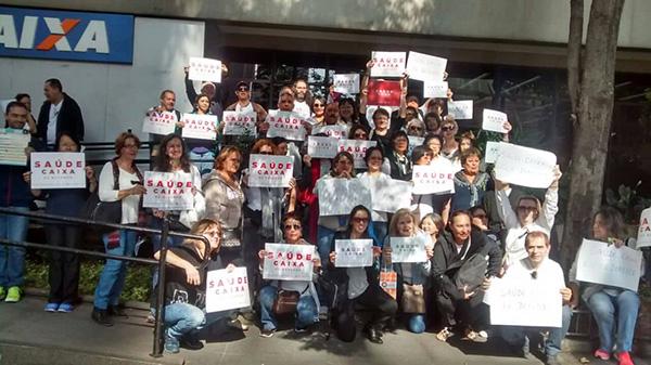 Dia de luta mobiliza empregados de todo o país em defesa do Saúde Caixa