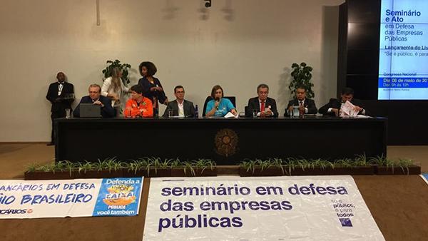 Empresas públicas: reagir ao desmonte é urgente, defendem participantes de seminário