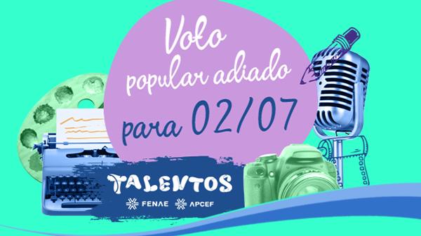Votação popular estadual do Talentos Fenae/Apcef começa na segunda-feira