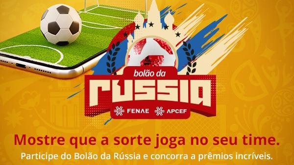 Bolão da Rússia Fenae/Apcef: dê seus palpites e concorra a muitos prêmios