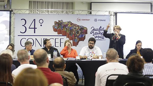 Defesa da Caixa 100% pública debates do Conecef