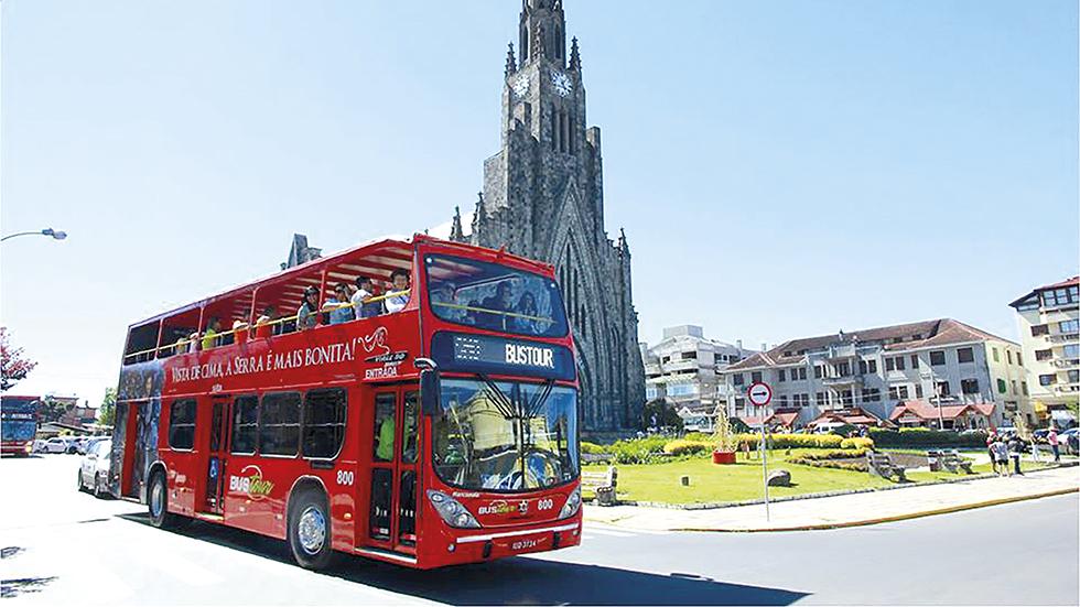 Desconto especial no City Tour Bustour, em Gramado e Canela