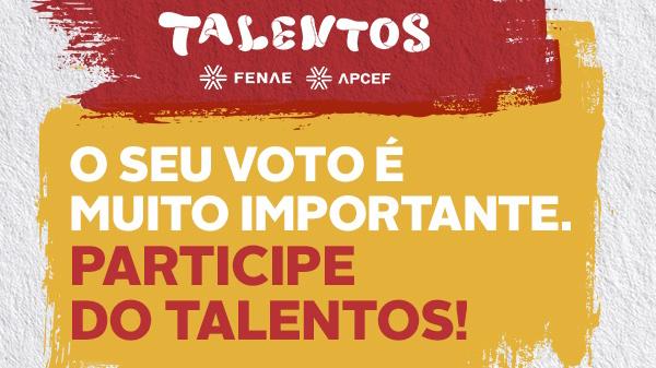 Aproveite o fim de semana para votar nas obras do Talentos Fenae/Apcef