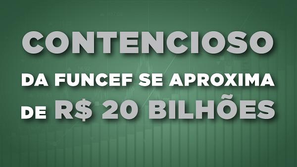 Contencioso da Funcef se aproxima de R$ 20 bilhões, quase o triplo do déficit acumulado