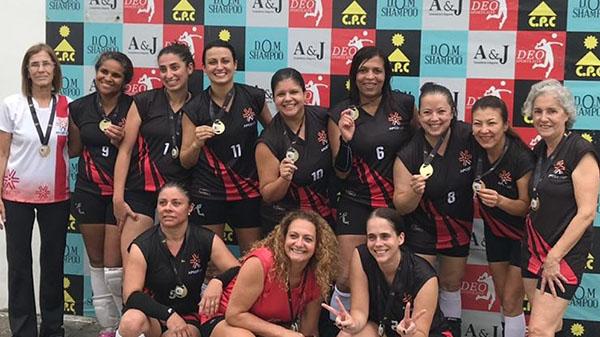 Time feminino da APCEF/SP ganha a Copa de Vôlei Deo