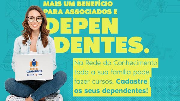 Rede do Conhecimento: cursos beneficiam dependentes