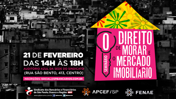 Seminário irá debater o direito à moradia e o mercado imobiliário