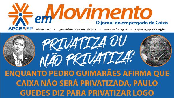 Confira a edição n. 1.318 do jornal APCEF em Movimento
