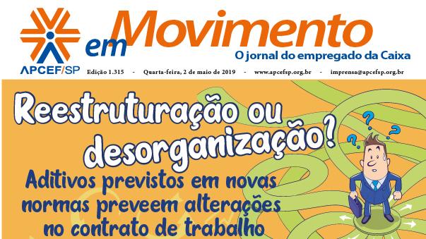 Confira a edição n. 1.321 do jornal APCEF em Movimento