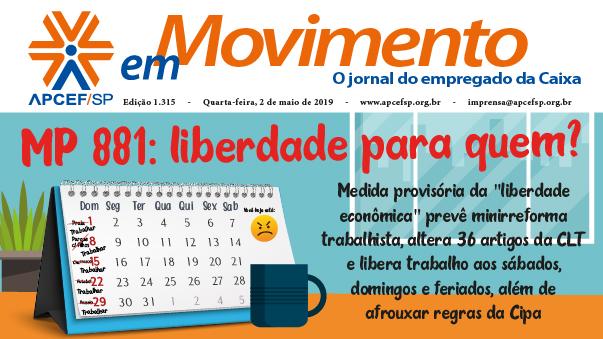 Confira a edição n. 1.325 do jornal APCEF em Movimento