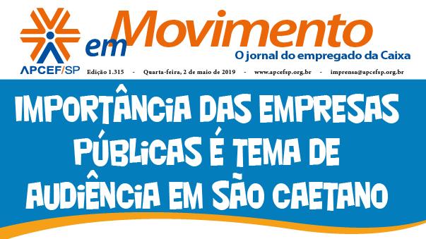 Confira a edição n. 1.324 do jornal APCEF em Movimento
