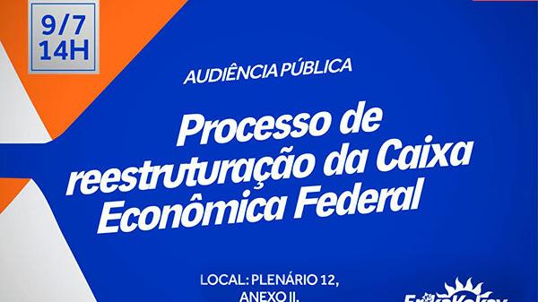 Presidente da Caixa será ouvido em audiência pública nesta terça (9)