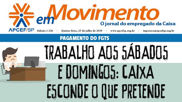 Confira a edição n. 1.327 do jornal APCEF em Movimento