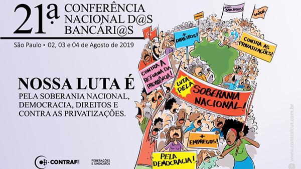 21ª Conferência Nacional dos Bancários é neste fim de semana