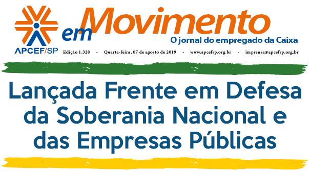 Confira a edição n. 1.333 do jornal APCEF em Movimento