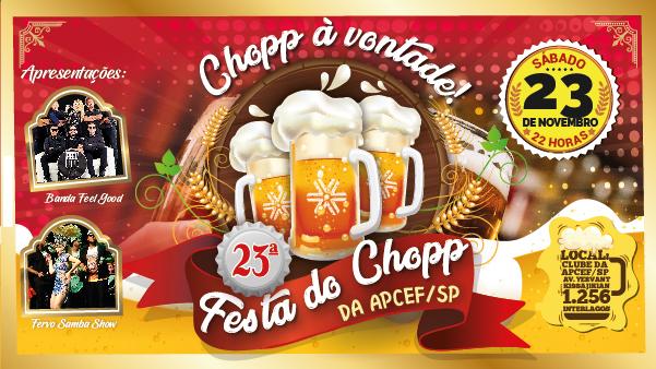 Maior Festa do Chopp para empregados da Caixa é dia 23