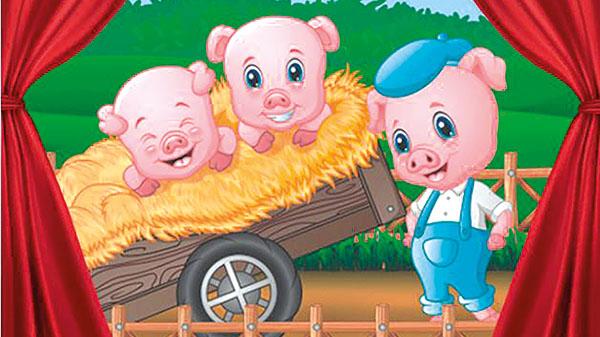 #APCEFIndica: Os Três Porquinhos – O Musical, no Teatro Bibi Ferreira
