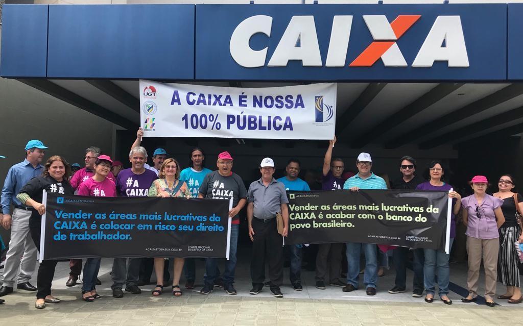 Atividades em Goiás marcam lançamento de campanha  pela Caixa pública e frente parlamentar contra privatizações