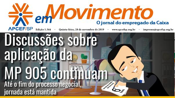 Confira a edição n. 1.344 do jornal APCEF em Movimento