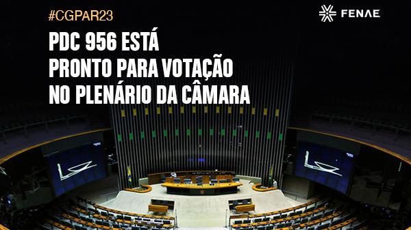 PDC que susta Cgpar 23 está pronto para votação no plenário da Câmara