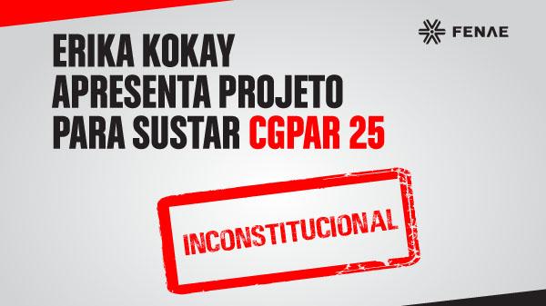 Erika Kokay protocola projeto para acabar com CGPAR 25