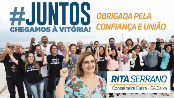 Rita Serrano vence as eleições para representante dos empregados no C. A.