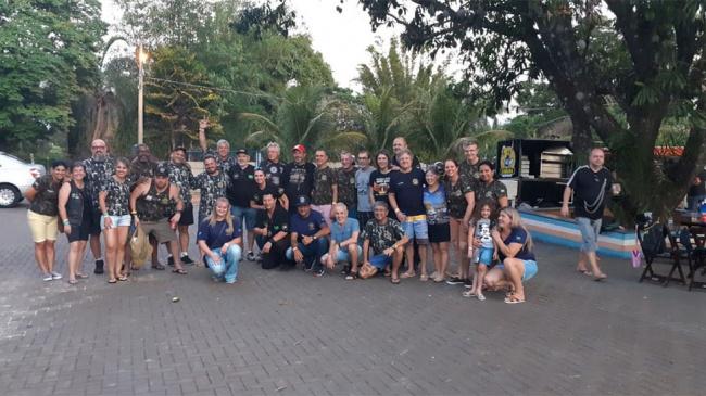 Clube da APCEF/SP em Bauru recebe Rota X Moto Clube