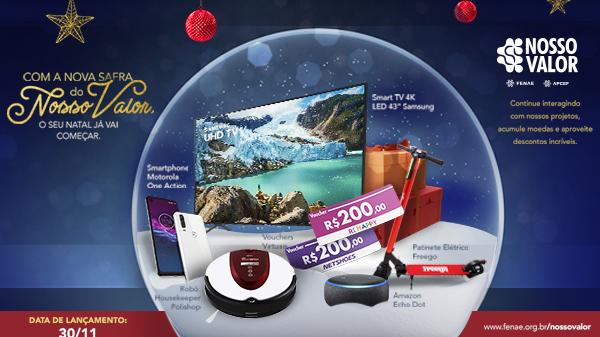 Safra de Natal do Nosso Valor entra no ar neste sábado com oferta de produtos especiais