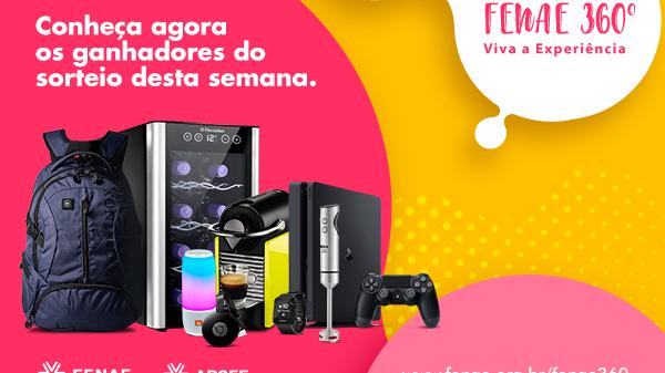 Confira o 5° sorteio da Campanha de Associação Fenae 360°- Viva a Experiência