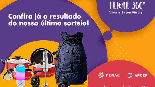 Veja resultados dos sorteios da campanha Fenae 360° no site