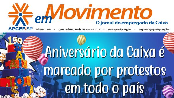 Confira a edição n. 1.349 do jornal APCEF em Movimento