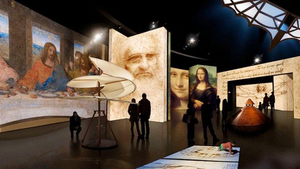 Exposição de Leonardo Da Vinci no APCEF nos Passos da Cultura