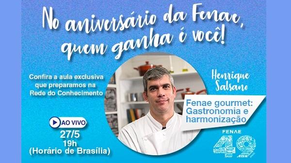 Aula ao vivo oferece prática de gastronomia na Rede do Conhecimento
