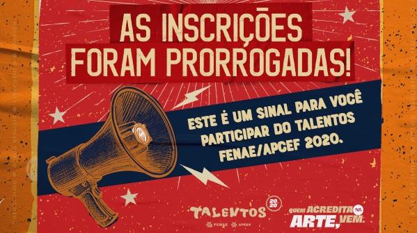 Prorrogadas inscrições do Talentos Fenae/Apcef 2020