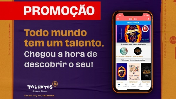Promoção de inscrição do Talentos já está no aplicativo Viva Fenae/Apcef