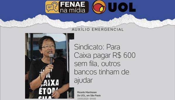 Em entrevista ao Uol, presidente da Fenae defende apoio aos empregados Caixa