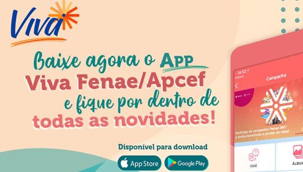Baixe o app Viva Fenae e fique por dentro das novidades