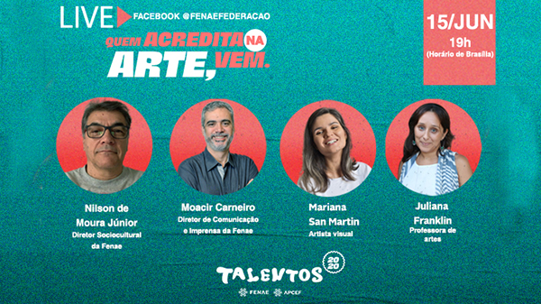 Talentos 2020: assista live de Artes Visuais e confira dicas valiosas
