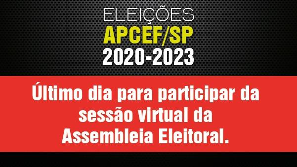 Sessão virtual de assembleia será encerrada nesta segunda (15), 18h. Vote!