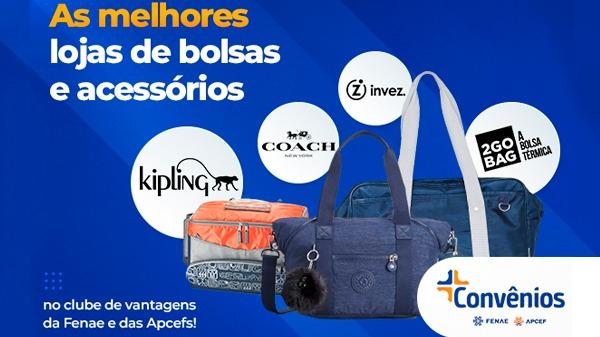 Bolsas, sacolas e acessórios podem ser adquiridos na plataforma de convênios da Fenae/Apcefs