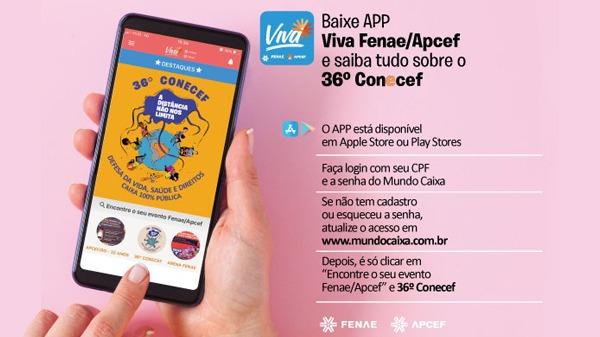 Baixe o APP Viva Fenae/Apcef e fique por dentro das informações do 36º Conecef