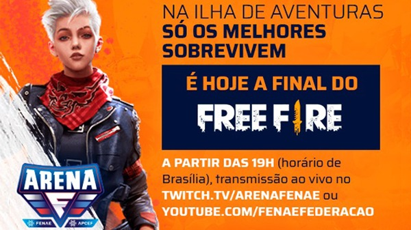 Grande final do Free Fire, nesta terça-feira (30), encerra o torneio on-line Arena Fenae/Apcef